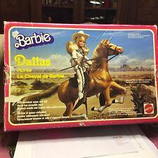 DALLAS -le Cheval de barbie  #3466 De 1981 Neuf En Boîte d'origine