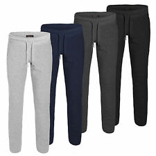 Mens Joggers Tracksuit Bottoms Trousers Gym Jogging Sweat Pants Zip Pockets