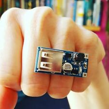 Unique USB CIRCUIT BOARD RING adjustable GEEK computer nerd TECH quirky COOL!