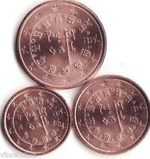 Portugal    2012      1-2-5 cent (miniset)   UNC uit de rollen !!!