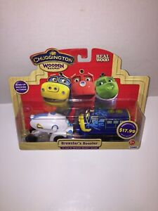 NEW Chuggington Wooden Railway Brewster's Booster Engine + Booster Toy