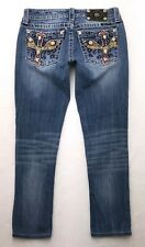 D198 Miss Me Altered & Skinny Low Rise Stretch Cropped Jeans sz 27 (Mea 27.5x25)