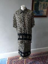 Rétro Vintage Femme Femmes Superbe Costume Jupe & Haut Tunique Chemisier Taille 18