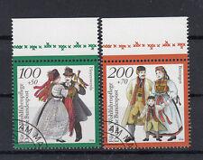 Briefmarken BRD 1994 Trachten Mi.Nr.1760+61 Rand