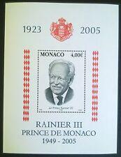 MONACO STAMPS MNH block - Prince Rainier III, 2005, **, SLANIA