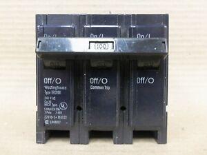 Westinghouse BR3100 3 Pole 100 Amp 240V Circuit Breaker