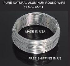 14 GA ALUMINUM  ROUND WIRE 100 FT ( DEAD SOFT) Natural 99.99%Pure Bright /CRAFT