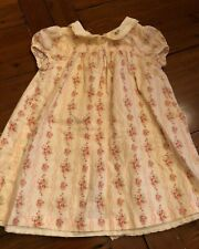 Janie and Jack Baby Girls Floral Ivory Dress Size 6-12 mos