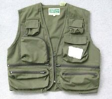 Rare Vntg DAVE COOK'S FAMOUS STREAM WING Fly Fishing VEST Size M Olive Green