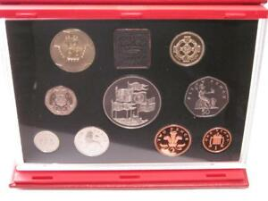 1996 Royal Mint deluxe proof set red leather case with COA
