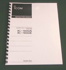 Icom IC-900A/E Instruction Manual - Premium Card Stock Covers & 28 LB Paper!