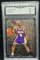 🔥 1996 FLEER METAL KOBE BRYANT #181 RC  GMA 9 LA Lakers