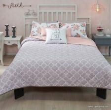 Gray Free Pink Blanket Comforter Reversible KING 5PC Shams Girls Fashion Flowers