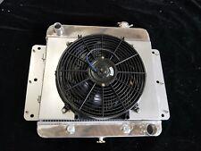 All Aluminum Radiator +Fan Fit 1963 1964 1965 Chevy Nova, Chevy II,63-65 3 Rows