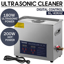 Commercial 6l Ultrasonic Cleaner Heated Withtimer Stainless Steel Jewelry Glasses