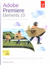 Adobe Premiere Elements 10 Windows Vista  7  XP Mac OS X 10.6  Sealed