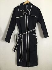 GEORGE by Mark Eisen Black Trench Coat Size S 4-6