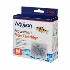 Aqueon Cartridges Medium 3Pack for filters QuietFlow Led 10, E20.Replacement M