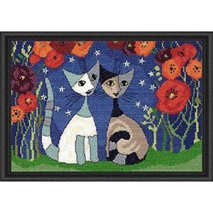 Poppy Nights - Rosina Wachtmeister Cats Cross Stitch Kit