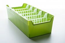 Kitchen Container Organizer Storing Spices High Quality PVC Plastic Green NEW