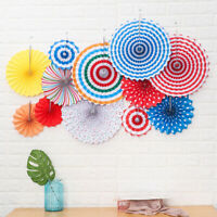 6x Paper Fan Flowers Wedding Baby Birthday Party Wall Hanging Pendant Home Decor