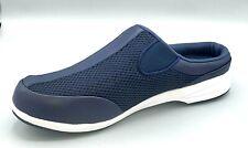 Propet Women's Slip Resistant Washable Navy Mesh Mules Walker Slide Size 11 D(W)