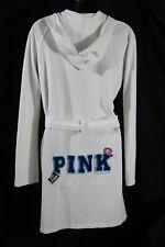 Victoria's Secret PINK Robe S/XS hoodie (white cotton small VS spa wrap lingerie