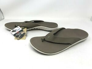 Mens Spenco Yumi Walnut Brown Flip Flops (403R)