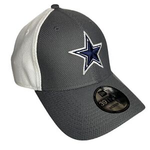 Dallas Cowboys New Era 39Thirty Fitted Hat M/L Gray White Curve Bill NFL Cap