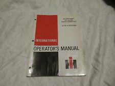 International 720 730 forage harvesters operator's manual