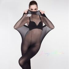 2Set Super Elastic Tights Stockings Women Shaping Pantyhose Socks 30D Black