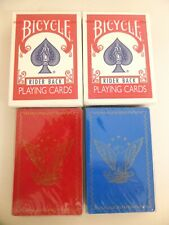 Playing Cards (4 packs, sealed New) 2 Bicycle Poker 808 and 2 Redislip Eagle