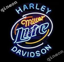 "19""X15"" Miller Lite HD H-D Motor REAL NEON SIGN BEER BAR PUB LIGHT Fast Shipping"