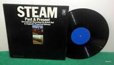 STEAM PAST & PRESENT BRITISH RAILS - TRAIN SOUNDS - USED VINYL LP