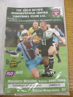 27/10/2001 Mangotsfield United v Lewes [FA Cup] . Thanks for viewing our item, w
