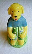 Ceramic Labrador Dog Boy Bank