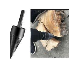 45mm Carbon Steel Firewood Drill Bit Wood Drilling Screw Splitting Cone Driver