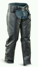 Brand New Diamond & Plate 3X Genuine Leather Chaps