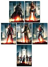 JUSTICE LEAGUE Movie - 6 Card Promo Set - Batman Wonder Woman Aquaman Flash