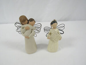Willow Tree 2002 Angel of Embrace Lordi & Angel Ornament Holding Building