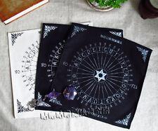 Black/Sliver/White Table Pendulum Magic Pentacle Runes Tarot Altar Table Cloth