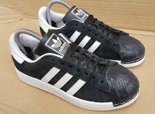 ADIDAS SUPERSTAR WHITE AND BLACK SNAKE SHELL TOE TRAINERS SIZE 7 UK RARE