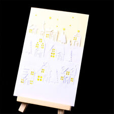 Delicate Xmas Houses Metal Cutting Dies Stencil Scrapbook Paper Cards CraftFE