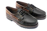 Herren Winter Deckschuhe Segelschuhe Boots Halbschuhe Leder Schnürer Spain