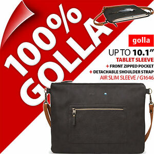 """Golla 10.1"""" Air Slim Tablet Sleeve for Carry Case with Detachable Shoulder Strap"""