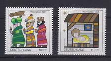 WEST GERMANY MNH STAMP DEUTSCHE BUNDESPOST 1997 CHRISTMAS NATIVITY SG 2825-2826
