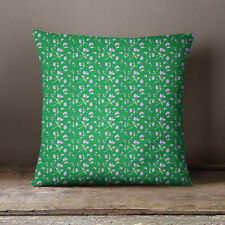 S4Sassy Decorative Green Cushion Cover Floral Printed Pillow Cover Throw
