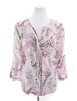 NWT Chico's Womens Paisley Print Zip Up Linen Jacket Sz 3 XL 16
