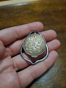 Vintage Sterling Silver St. Christopher Men's Money Clip Charles Thomae