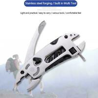 Multifunction Outdoor Pocket Metal Tool Pliers Spanner Wrench Screwdriver O2I1